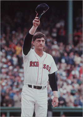 At age 44, Yastrzemski retired in 1983 with 452 homers, 1844 RBIs, 3419 hits and a .285 batting average. Currently, he is ranked 33d on the all-time home run list. Yastrzemski was elected into the Baseball Hall of Fame in 1989, garnering more than 94 percent of the vote. His No. 8 was retired by the Red Sox that same year.