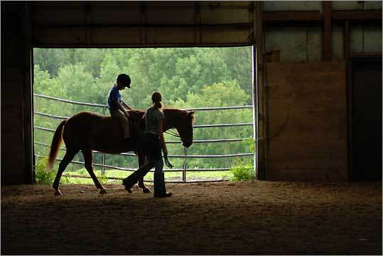 Lee's Riding Stable offers a traditional way to see the area.