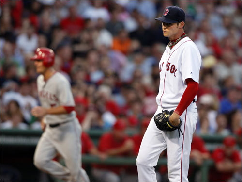 July 29: Little things They sure add up. An error, three singles and a bases-loaded walk scored two runs for the Angels in the third inning. Buchholz gave up six earned runs in six-plus innings, while Los Angeles starter John Lackey (complete game) was too much for the Sox in a 6-2 loss.
