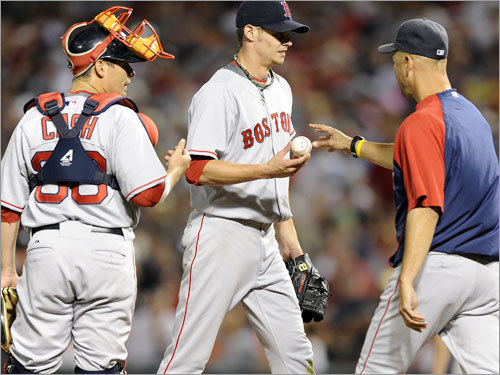 Aug. 21: Demotion derby Spotted an early 4-0 lead, Buchholz lasted only 2 1/3 innings, giving up five earned runs on three hits while walking three as the Sox fell, 11-6. After the game, Buchholz was demoted to Double A Portland.