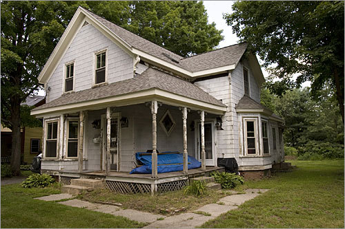 More than two years ago Laura and Neil Robbins of Maynard, both self-employed, decided to buy a fixer-upper and serve as the general contractors for their remodeling project. They plan to reuse as much of the original material as possible.