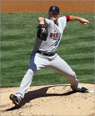 Inside the park, Jon Lester took the hill for the Red Sox.
