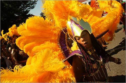 Artice Kendall of Dorchester danced in the parade during the 16th annual Cambridge International Carnival on Aug. 24.