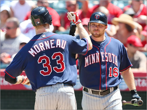 Twins (77-61) Tied, 1st (AL Central) Tied, 2d (wild card) Justin Morneau (being congratulated by Jason Kubel) and a mostly anonymous but productive supporting cast has kept Minnesota in the race, and their relatively easy schedule might push them over the top. Fifteen of Minnesota's final 25 games come against sub-.500 teams, and six of those 15 are against the lowly Royals. The Twins have a four-game swing at Tampa beginning Sept. 18.