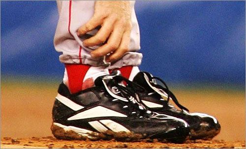 Curt Schilling Schilling secured his permanent place in Red Sox lore with his performance on an injured right ankle during the 2004 postseason. After suffering a torn tendon sheath during Game 1 of the ALDS, he was roughed up by the Yankees in Game 1 of the ALDS. But an innovative surgical procedure stabilized the ankle and Schilling, his sutures famously bleeding through his sock, went on to win both Game 6 of the ALCS and Game 2 of the World Series.