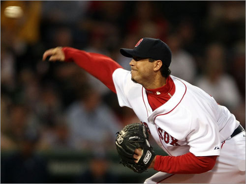Josh Beckett made his second start since coming off the disabled list with elbow problems. On a bit of a short leash, Beckett went six innings (84 pitches). He allowed six hits, one run and struck out seven.