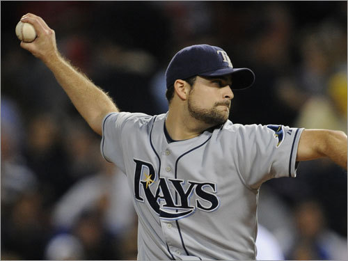 Andy Sonnanstine got the nod for the Rays. He allowed four hits over seven innings, fanning seven.