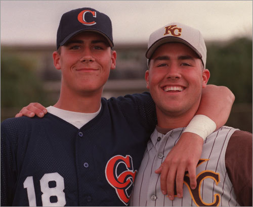 Matt Cassel (left) played baseball for Chatsworth High and his brother Jack (right) played for Kennedy High. Jack is now a pitcher for the Houston Astros. A two-sport star in high school, Matt quarterbacked Chatsworth to the city divisional football championship at the LA Coliseum in 1998. The next spring, as a designated hitter, he led Chatsworth's baseball team to victory in the city championship game at Dodger Stadium.