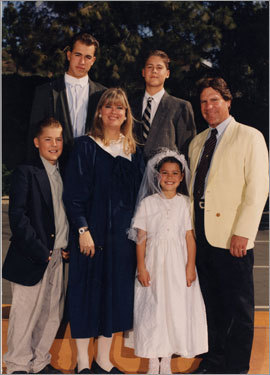 The early years Cassel (top, right) went through some adversity in his childhood, including the Northridge earthquake of 1994, and his parents' divorce.