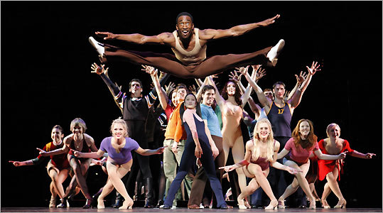 Anthony Wayne and the company of the revamped ''A Chorus Line,'' which features dances that have been restaged by Baayork Lee, Michael Bennett's assistant choreographer on the original Broadway production.