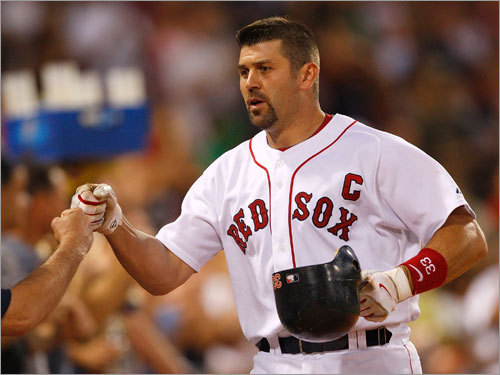 Jason Varitek, Catcher Mazz's grade: C- Since Aug. 14, when his average bottomed out at .212, he has batted .245 with five home runs; if he can offer something similar in the playoffs, no one will be complaining. Beyond that, we all know the issues here. Varitek's bat has slowed considerably, mostly from the left side. His contract is up. He either needs more help or the Sox have to get someone else.