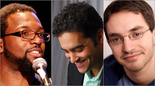From left: Evil doers Baratunde Thurston, Jeff Kreisler, and Myq Kaplan.