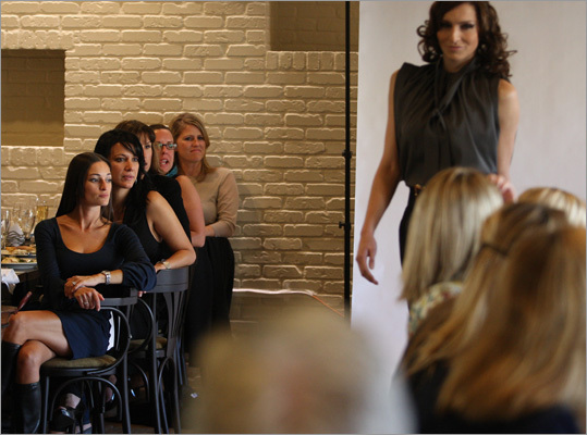 Runway shows such as Daniela Corte's at Sel de la Terre at the Mandarin Oriental brought in the crowds during Boston Fashion Week.
