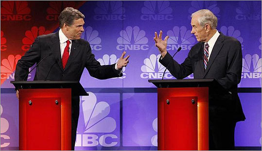 (Perry - Paul debate, Reuters)