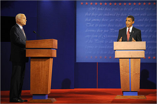 As the debate moved into foreign policy, the exchanges between the candidates grew increasingly testy. McCain and Obama sparred over policy for the wars in Iraq and Afghanistan, and relations with Pakistan.