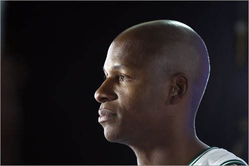 Ray Allen posed for a picture.