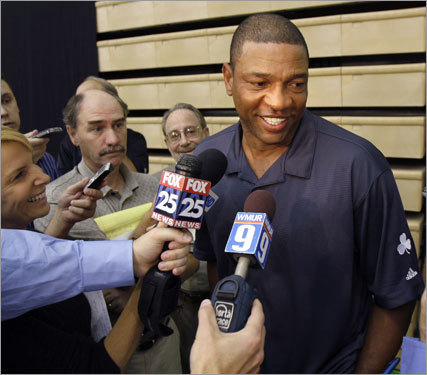 Doc Rivers spoke to reporters.