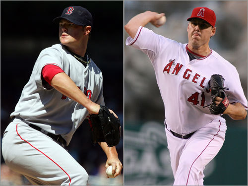 Game 1: Lester vs. Lackey at Anaheim Wed., 10:00 p.m. (TBS) The lefty, Jon Lester, gets the nod in Game 1 because of Josh Beckett's injury, but he's been pitching like an ace for much of the season. He faces John Lackey, whom the Red Sox have pounded over the years. However, Lackey seems to have put it together when facing the Sox this season, beating them twice.