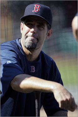 Mike Lowell, who missed significant time at the end of the regular season because of a torn labrum, worked out Tuesday afternoon.