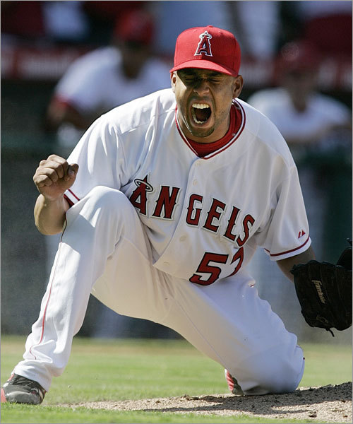 Bullpens The Angels have won 193 games since the beginning of last season and 42 percent of them were by one run, most in the majors. That's attributable to their strong bullpen and record-setting closer Francisco Rodriguez (pictured), who has not pitched more than one inning in an appearance all season. Scot Shields remains a premier setup man, while young flamethrowers Jose Arredondo and Kevin Jepsen could play huge roles. Former Sox lefty Darren Oliver had one of his best seasons.