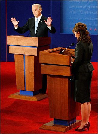 Biden and Palin also spent a lot of time defending and elaborating on the stances of their running mates.