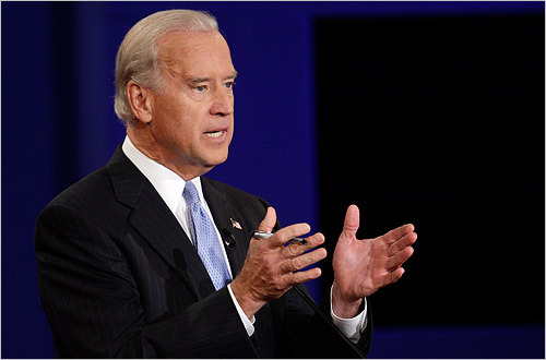 Joe Biden offered responses heavy on details, often citing a litany of numbers to make his point.