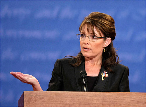 During the debate, Palin drew on her experience dealing with oil companies as governor of Alaska to speak about energy policy.