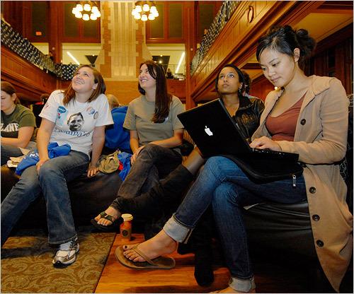 Washington University students watched the debate.