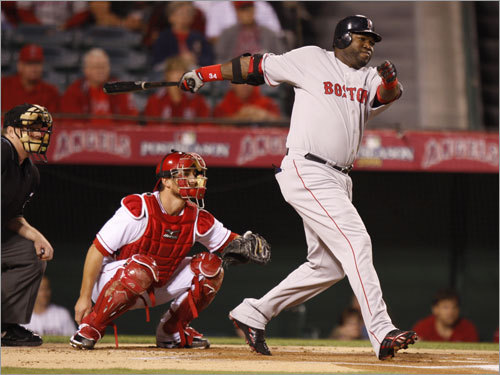 David Ortiz hit a single in the first inning.