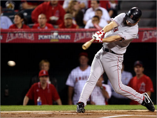 Red Sox right fielder J.D. Drew delivered an RBI double in the first inning.