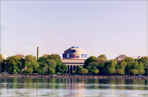 In 1999 pranksters turned the dome into Star Wars character R2D2. (Photo courtesy of MIT Museum)