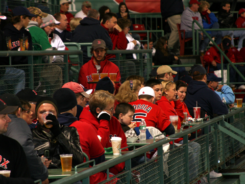 Some of the coldest spots at Fenway last night were up in Conigliaro's Corner, and the right field roof deck.