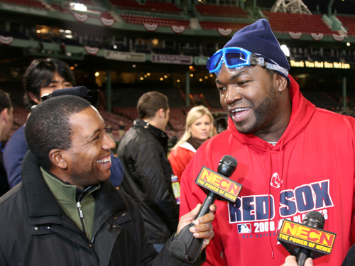 After the Sox win over the Angels in Game 4, David Ortiz talks to NECN's Chris Collins about moving on to face the Rays in the ALCS.