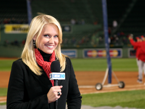 NESN's Heidi Watney is set to go on air before Game 4.