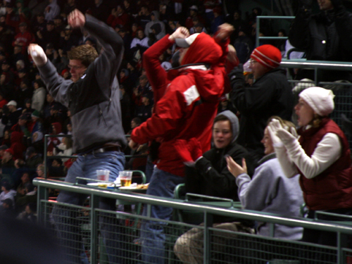 Fans were dancing under the stars as the Sox jumped out to a 2-0 lead on the Angels in the fifth inning.