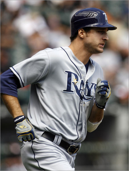 Benches Both teams have terrific role players who see time in the starting lineup. The Rays will platoon Rocco Baldelli (pictured) with Cliff Floyd at DH, and they are not afraid to use Baldelli or rookie Fernando Perez in right fi eld when Gabe Gross sits. The Rays have turned Ben Zobrist into a pretty good jack-of-all-trades. With Kevin Youkilis sliding over to third base, Mark Kotsay should see most of the action at fi st, which leaves Sean Casey glued to the bench. Alex Cora is one of the best utility infi elders in baseball. The Sox seem to have better depth at catcher with Kevin Cash and David Ross, two very good backstops. If something should happen to Dioner Navarro, the Rays would be stuck with journeyman Michel Hernandez. Edge: Rays