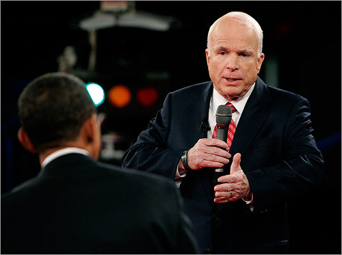 McCain disagreed, saying he would work to win the trust of the Pakistani people to combat the threat of Al Qaeda and bin Laden. 'I'll get him,' McCain said about bin Laden, 'but I'm not going to telegraph my punches.'