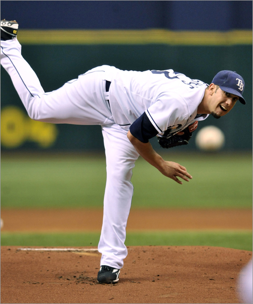 Starting pitching, continued The Rays have their own ace in Game 1 starter James Shields (pictured), who is fearless and nasty and sets a tone on the mound. But the righty was just 2-2 with a 5.85 ERA against the Sox this season (including a two-hitter April 27 at the Trop), and in his career is a woeful 0-3 with a 10.12 ERA at Fenway, where he'd have to pitch in Game 5. Matsuzaka lasted just five innings in each of his three starts against Tampa Bay this season, going 1-0 with a 3.00 ERA. Matt Garza will be opposite Lester in Game 3. The righthander was the only Rays starter to lose in the ALDS, giving up five runs over six innings. Andy Sonnanstine, who won the clinching Game 4 against the White Sox in the ALDS, pitched 13 scoreless innings against the Sox this year over two starts. Tim Wakefield was 0-2 with a 5.87 ERA in three starts against the Rays this season, but none of those starts were at Fenway, where he posted a 3.10 ERA (compared with 5.14 on the road). The question for the Rays will be whether their staff can stand toe-to-toe against Boston's top three. Edge: Red Sox