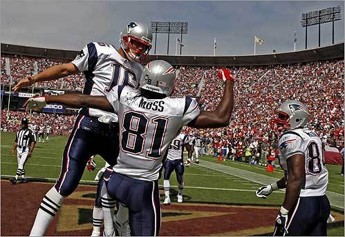 The New England Patriots' Randy Moss