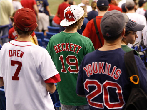 Young Red Sox fans waited for the team to take the field for batting practice before Game 2 of the ALCS.