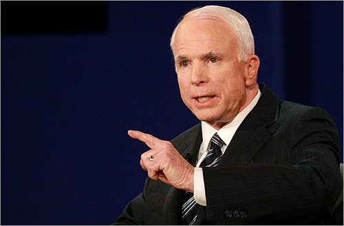 McCain defended his independence, and said that if Obama wanted to run against President Bush, he should have ran four years ago.