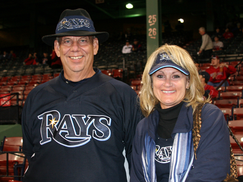 Mark and Dianne Buck of Tampa have waited '10 long years' for the Rays to make the playoffs. 'I'm originally a Cubs fan,' Mark said. 'So I know real suffering.'