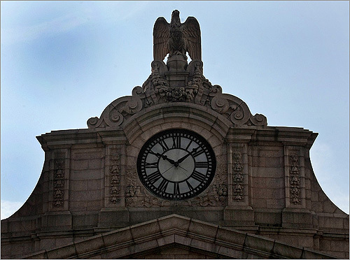 The South Station clock