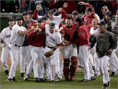 2007 ALCS Red Sox rally from 3-1 The most recent Red Sox comeback was last year against the Indians. Down three games to one and facing elimination in Cleveland, Josh Beckett (wearing red jacket, center-left) went eight innings and struck out 11 to save the season, and the Sox outscored the Indians, 23-4, in Games 6 and 7 to get to the World Series.