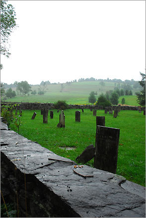 A cemetery in Woodstock.