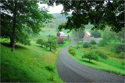 A farm in the hills of Woodstock, Vt., a town of 3,232 with an incorporated village run by a board of trustees.