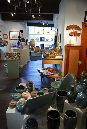 The Art of Craft is an artists' cooperative on Central Street in Woodstock.