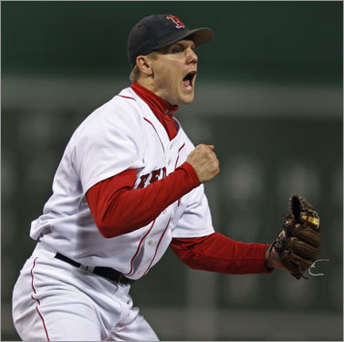 After giving up two runs in the top of the seventh (not charged to him), Papelbon worked a 1-2-3 eighth inning.