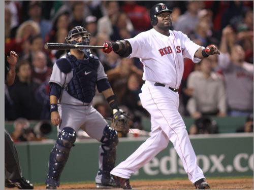 David Ortiz watched the flight of his three-run home run.