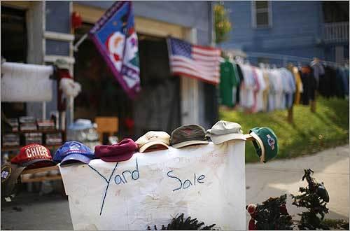 A yard sale in Shawnee